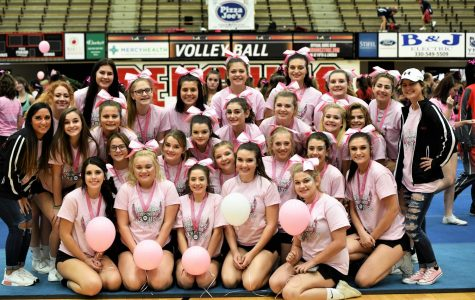 The Mohawk Cheerleaders take on YSU Pink Ribbon Cheer Classic